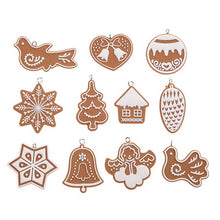 Christmas Pendants Lot Snowflake Biscuits Hanging Christmas Tree
