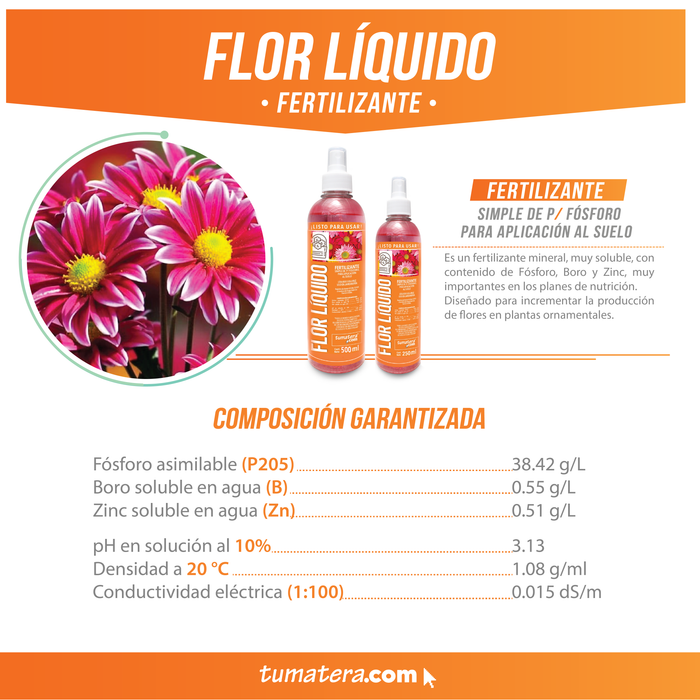 FERTILIZANTE FLOR X 250 ML - Tumatera.co