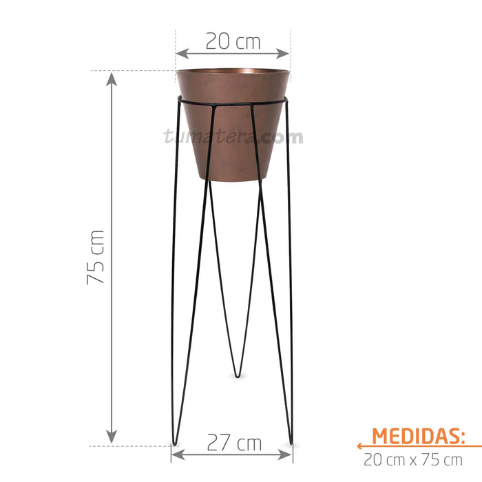 KIT MATERA CORTEN + BASE 20 X 70 CM - Tumatera.co