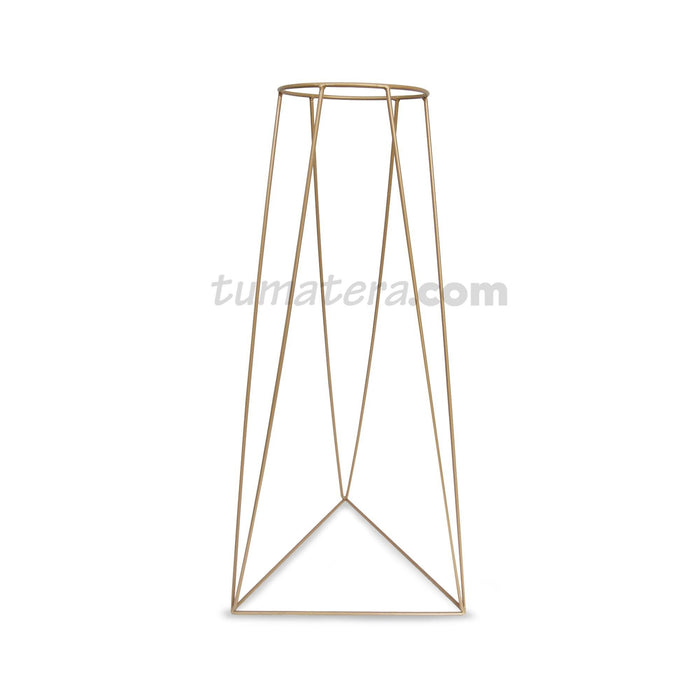 BASE METÁLICA TRIANGULAR 20 x 70 CM color Dorado Mate