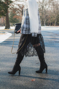 COCO Tweed and Tulle Bomber Jacket