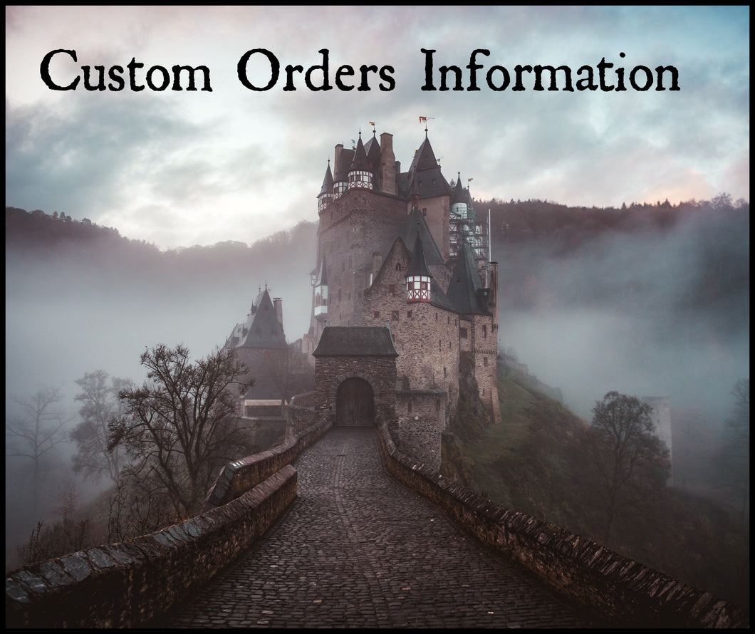 Custom Orders Information