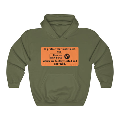 BMW Awesome Warning Label Hoodie