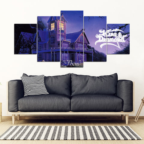 5Pcs King Diamond Framed Canvas 1