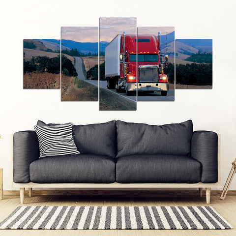 5Pcs Freightliner Classic Framed Canvas 5