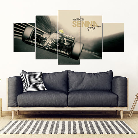 5Pcs Ayrton Senna Framed Canvas 4