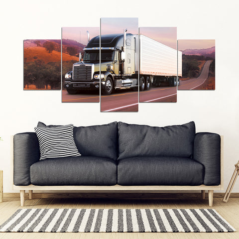 5Pcs Freightliner Coronado Framed Canvas 10