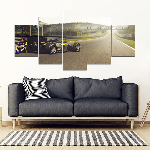 5Pcs Ayrton Senna Framed Canvas 3