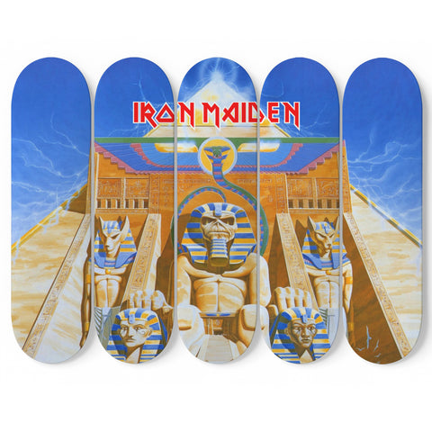 5pcs Iron Maiden Skateboard W/ Wall Mounts 3