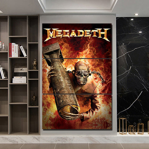 3Pcs Megadeth Canvas 1