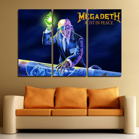 3Pcs Megadeth Canvas 3