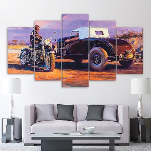 5Pcs Harley Canvas 4