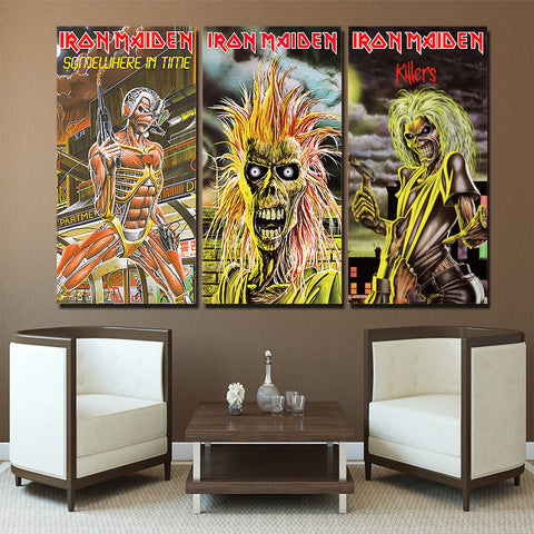 3Pcs Iron Maiden Canvas 6