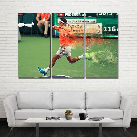 3Pcs Federer Canvas 3