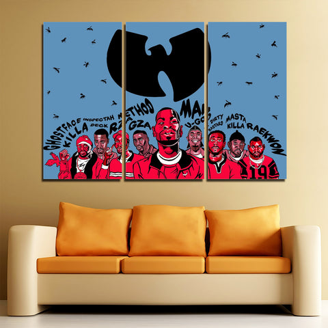 3Pcs Wu Tang Canvas 1