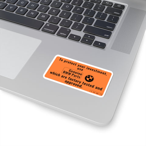 BMW Awesome Warning Label - Kiss-Cut Stickers