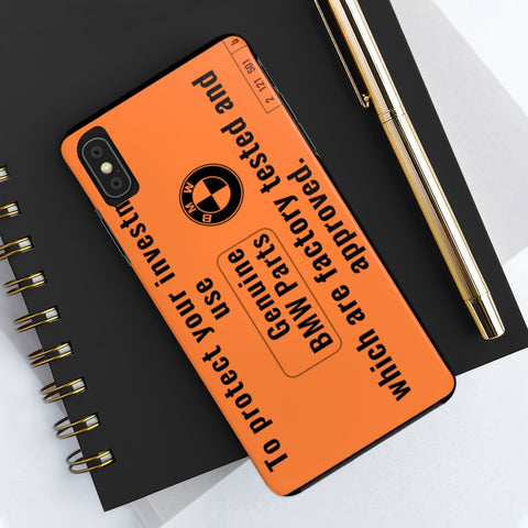 BMW Awesome Warning Label - Phone Cases for iPhones and Samsung