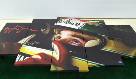 5Pcs Ayrton Senna Framed Canvas 7