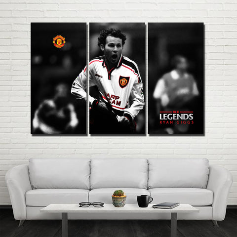 3Pcs MU Legend Giggs Canvas 1