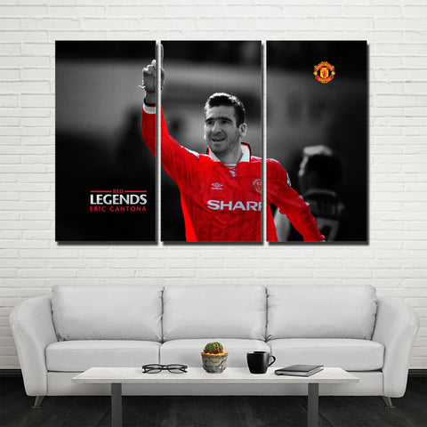 3Pcs MU Legend Cantona Canvas 1