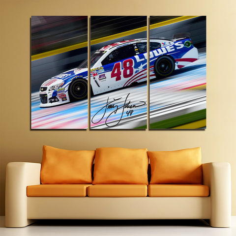 3Pcs Jimmie Johnson Canvas 1