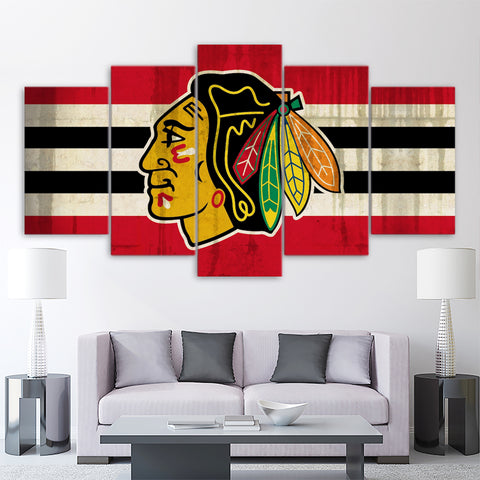 5Pcs Chicago Blackhawks Canvas 1