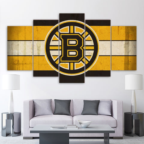 5Pcs Boston Bruins Canvas 1