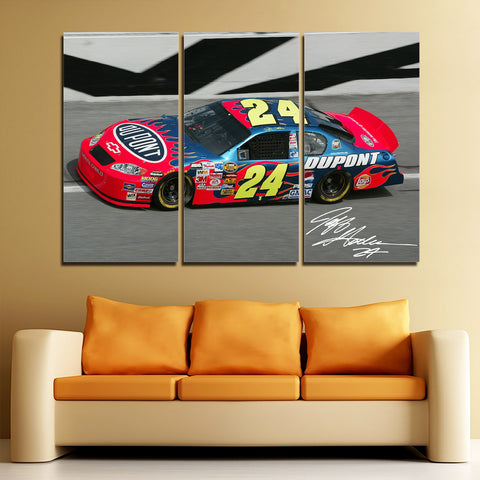 3Pcs Jeff Gordon Canvas 2