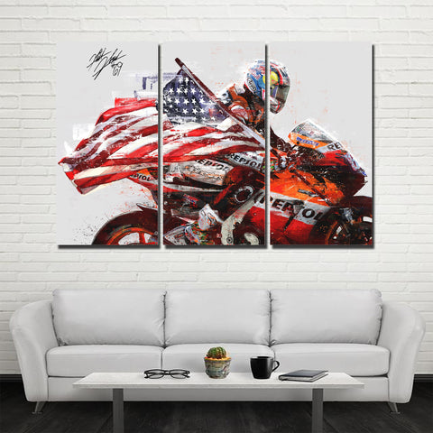 3Pcs Nicky Hayden Canvas 2