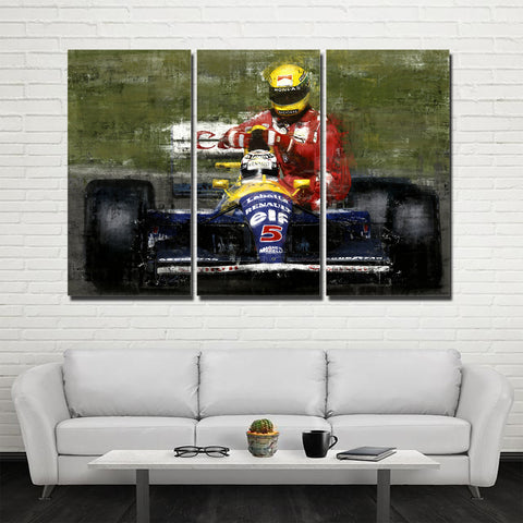 3Pcs Ayrton Senna Framed Canvas 5