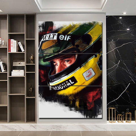 3Pcs Ayrton Senna Framed Canvas 8