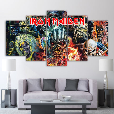 5Pcs Iron Maiden Canvas 1