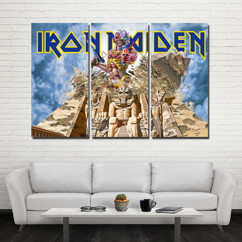3Pcs Iron Maiden Canvas 3B