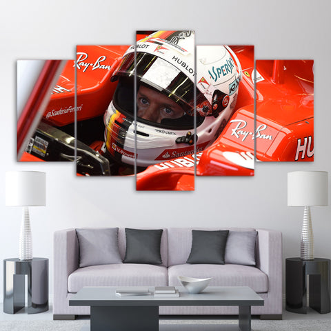 5Pcs Vettel Canvas 4
