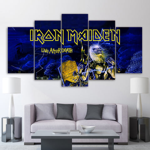 5Pcs Iron Maiden Canvas 4A
