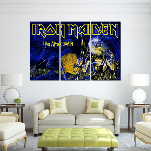 3Pcs Iron Maiden Canvas 4B