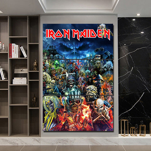 3Pcs Iron Maiden Canvas 5
