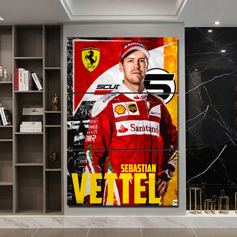 3Pcs Vettel Canvas 5