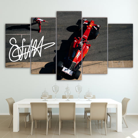 5Pcs Vettel Canvas 7