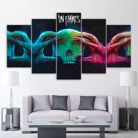 5Pcs In Flames Canvas 2