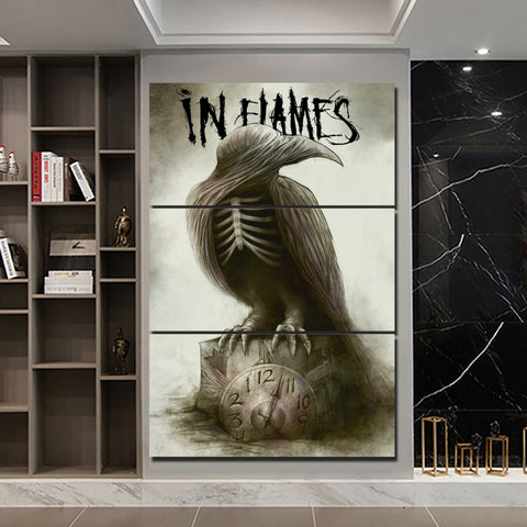 3Pcs In Flames Canvas 3