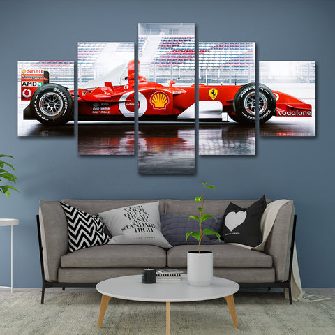 5Pcs Schumacher F1 2002 Car Canvas 4