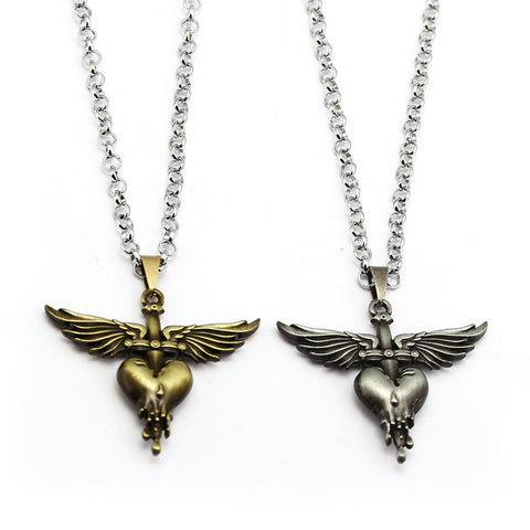 Bon Jovi Wing Heart Necklace