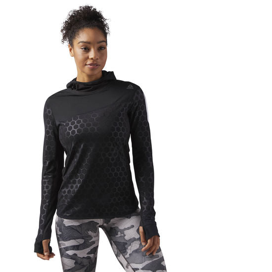 REEBOK - Hexawarm QTR Zip Top Black