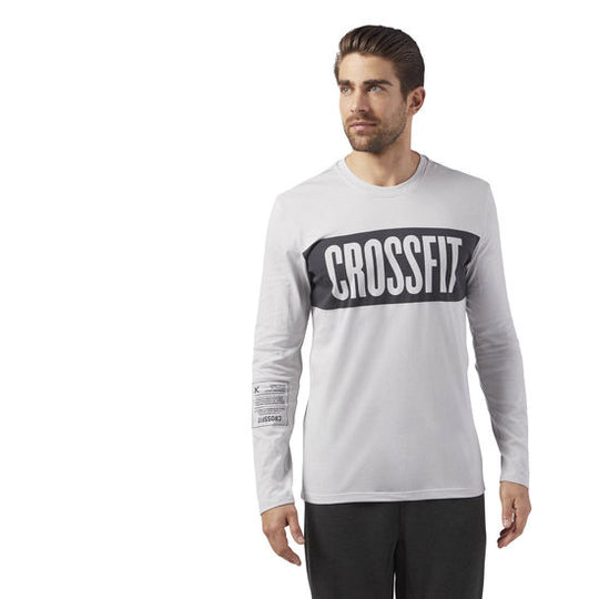 REEBOK - Camiseta de Manga Larga Crossfit Stripes