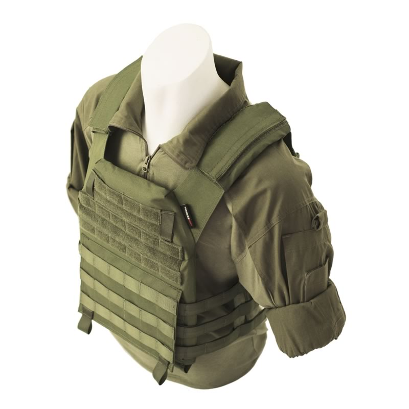 TRAIN LIKE FIGHT - Oldskull Vest Od Green