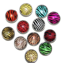 Animal print stripe charms