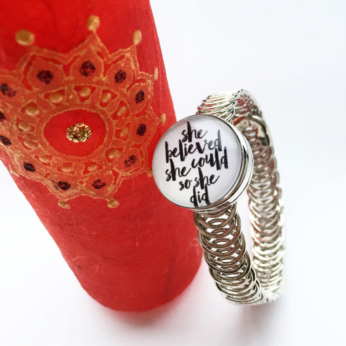 Motivational bangle