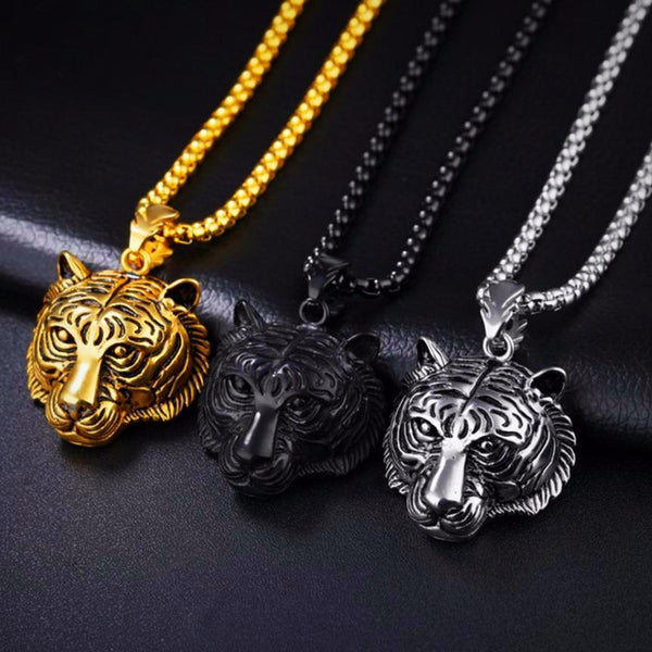 Men Necklace Tiger Pendant