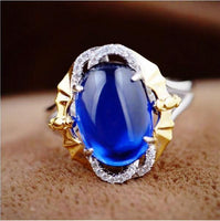 Beautiful Sapphire Pure 925 Sterling Silver Ring